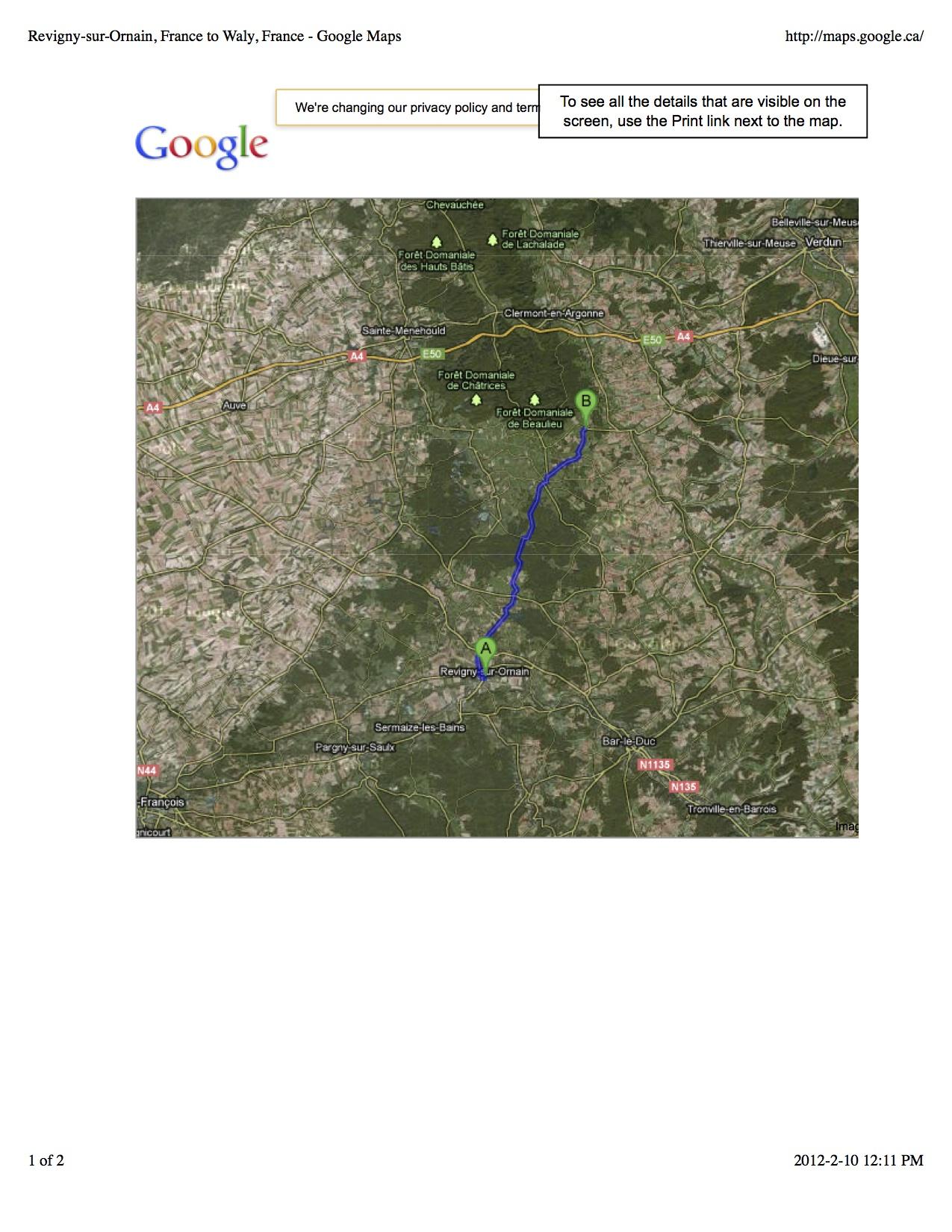 Revigny-sur-Ornain, France to Waly, France - Google Maps